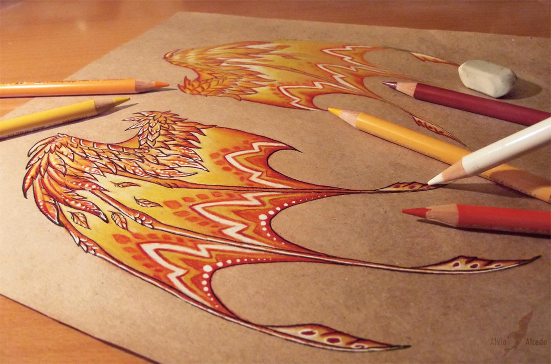 Fire dragon's wings - work in progress by AlviaAlcedo on ...