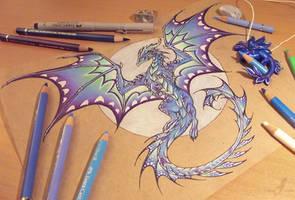 Dragon of the Northern moon [work in progress] by AlviaAlcedo