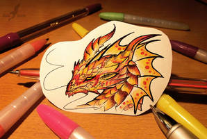 Fire dragon sticker by AlviaAlcedo