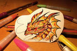 Fire dragon sticker