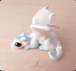 White snow baby dragon  miniature