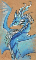 Blue mountain dragoness
