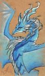 Blue mountain dragoness