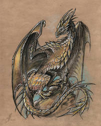 The great wyvern by AlviaAlcedo