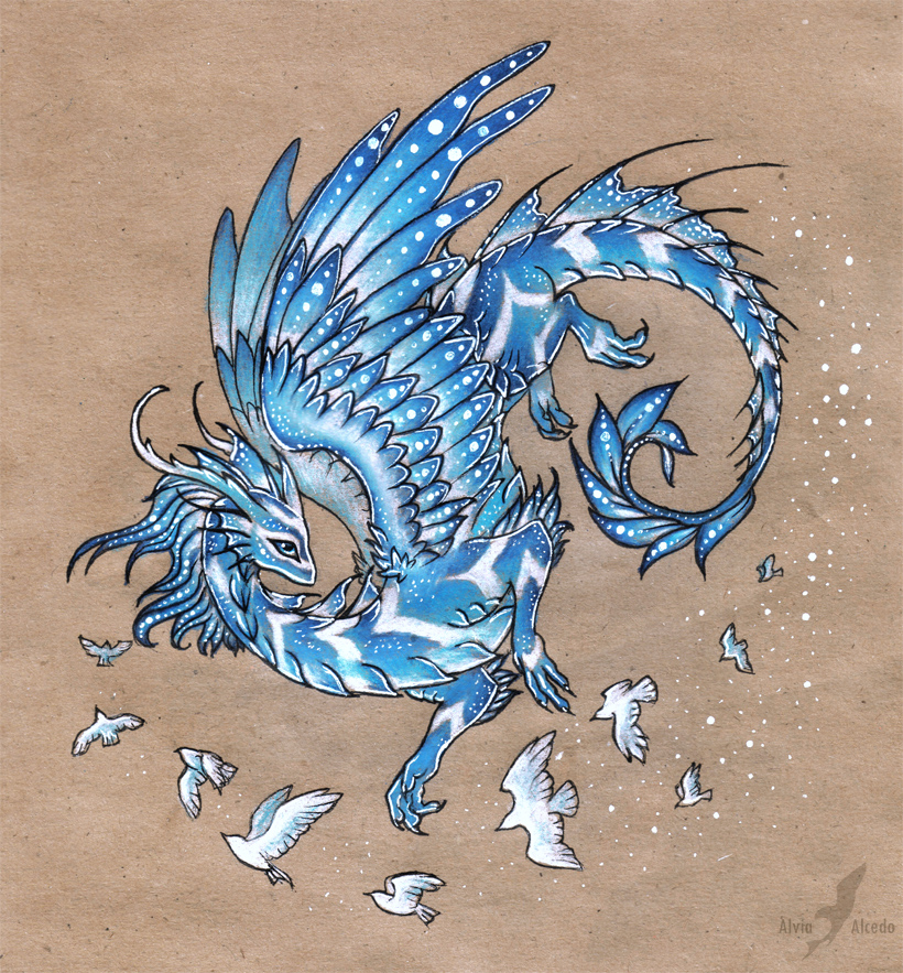 Dragon of free sky by AlviaAlcedo