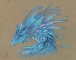 Crystal blue dragoness by AlviaAlcedo