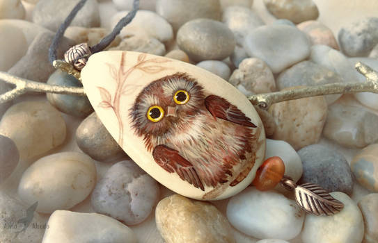 Little owl - necklace