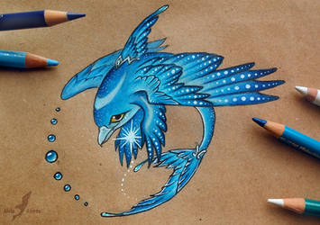Sapphire dolphinbird by AlviaAlcedo