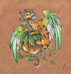 Little hazelnut dragon by AlviaAlcedo