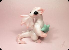 Little pearl dragon +[star glows in dark] by AlviaAlcedo
