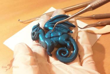 Dragon pendant - work in progress