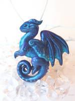 Sapphire dragon by AlviaAlcedo