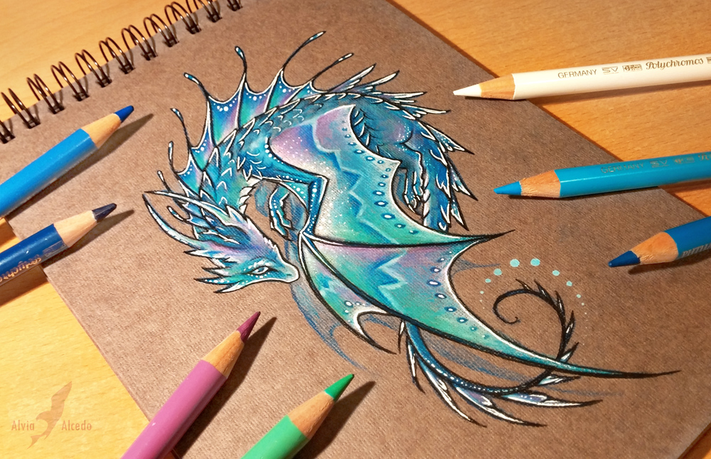 how to draw a water dragon