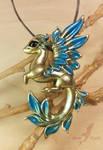 Royal golden blue dragon
