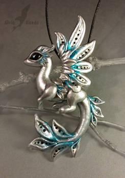 Silver arctic dawn dragon