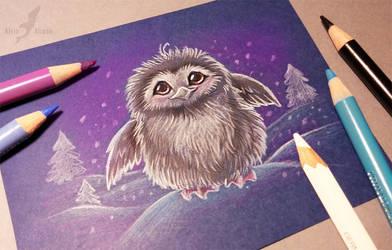 Winter penguin by AlviaAlcedo