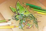 Lunar moth dragon