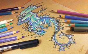 Space flower dragon by AlviaAlcedo