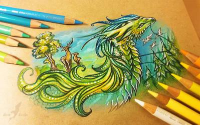 Spring dragon by AlviaAlcedo