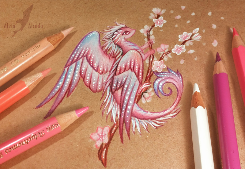 Sakura dragon by AlviaAlcedo