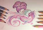 Pink flower dragon