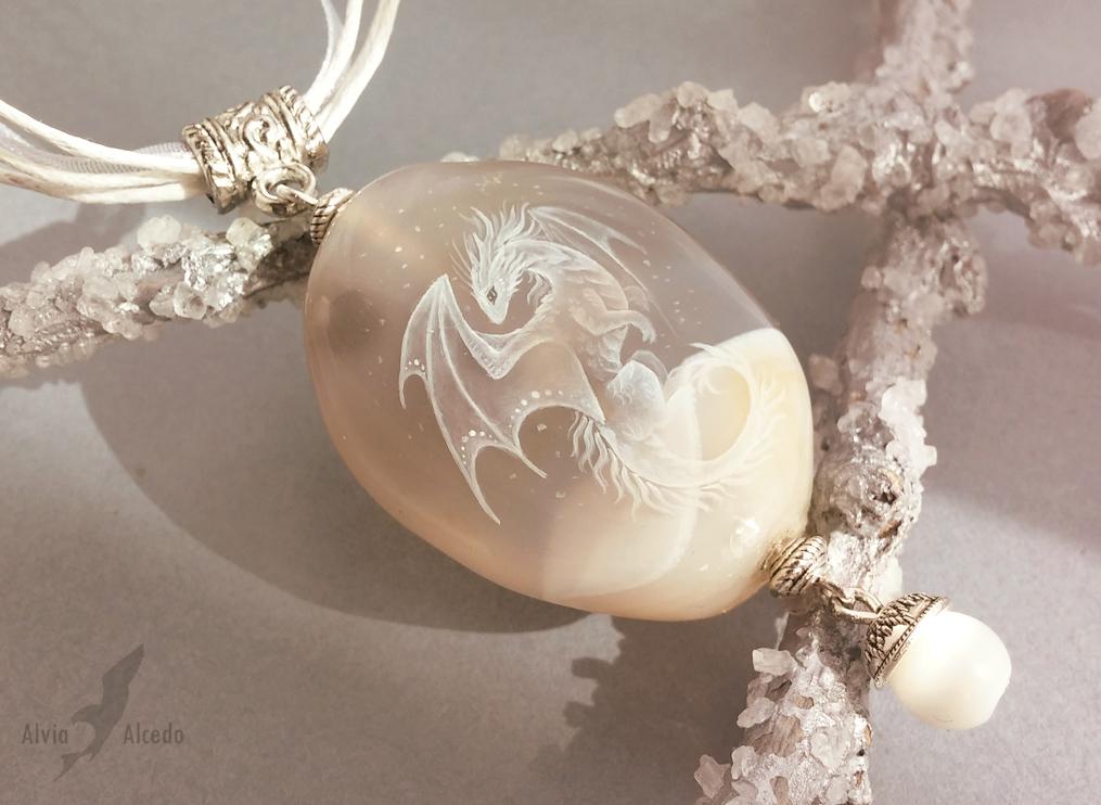 Dragon of winter dreams by AlviaAlcedo