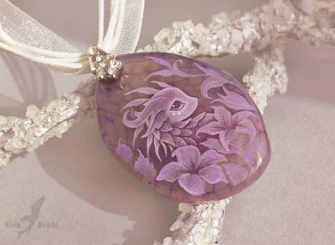 Purple flower dragon