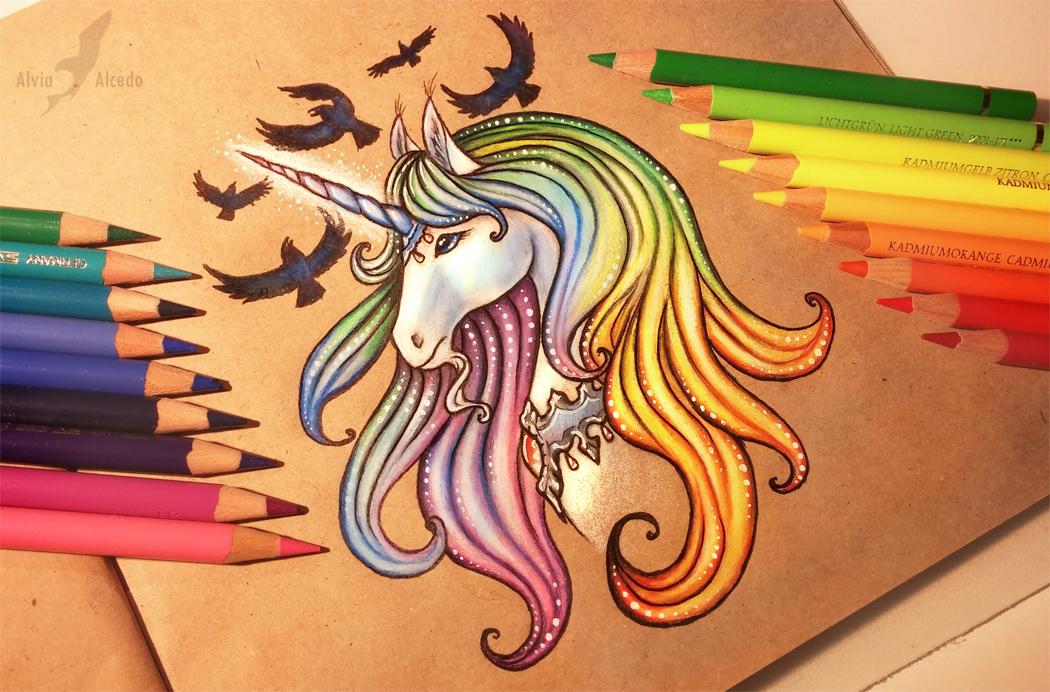 Royal unicorn by alviaalcedo