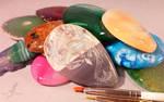 Stone eggs by AlviaAlcedo