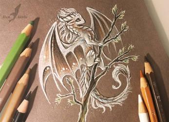White spring dragon