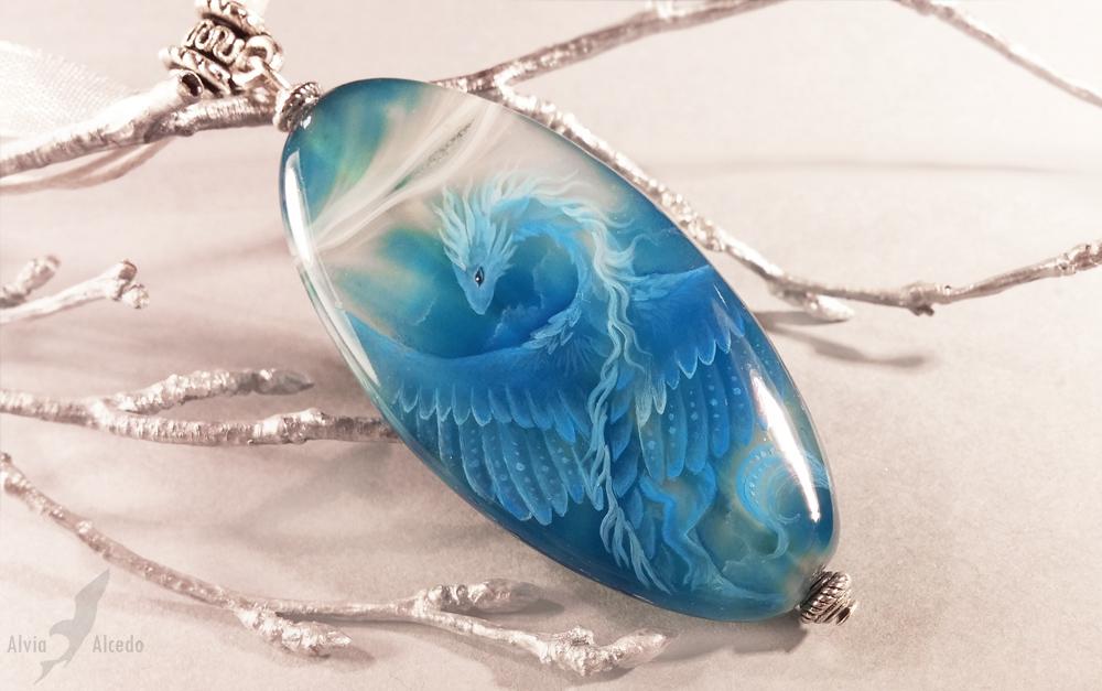 Sky blue dragon by AlviaAlcedo