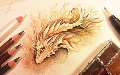 Forest spirit dragon by AlviaAlcedo