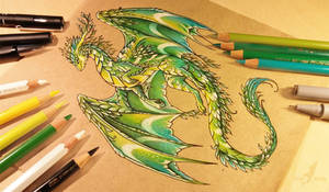 Summer forest dragon