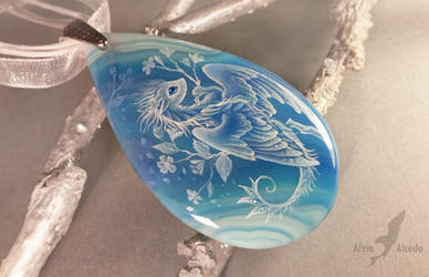 Azure flower dragon