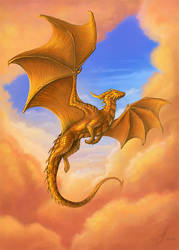 Dragon of the Golden sunrise