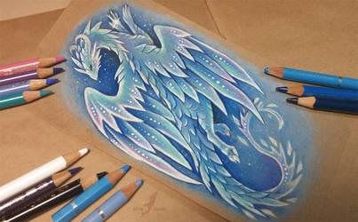 Arctic ice dragon by AlviaAlcedo