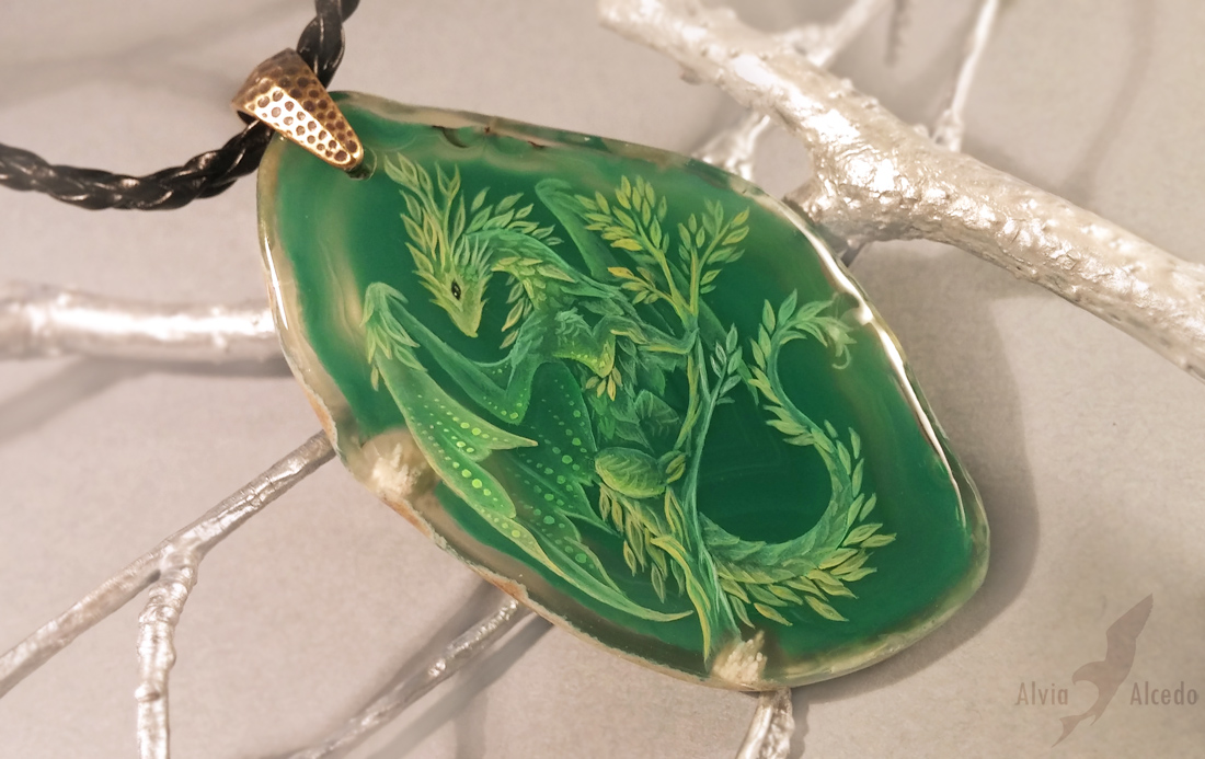 Green dragon by AlviaAlcedo