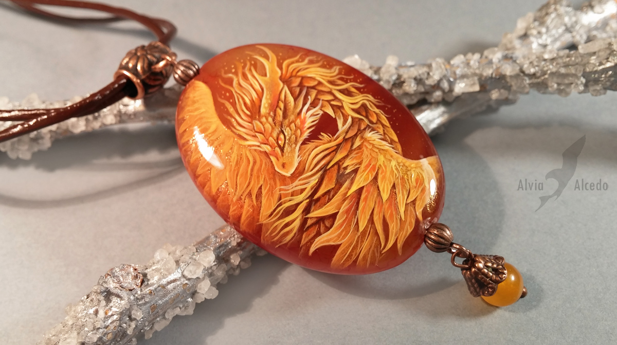 Sunny fire dragon pendant by AlviaAlcedo