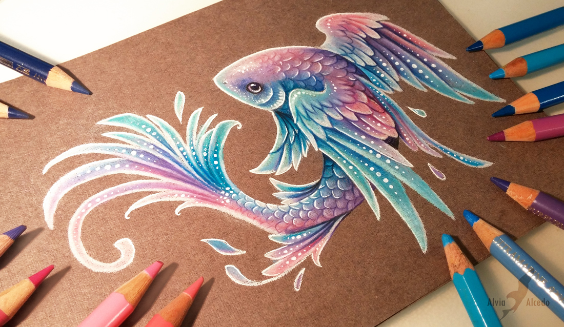 It's just a picture of Gratifying Pretty Fish Drawing