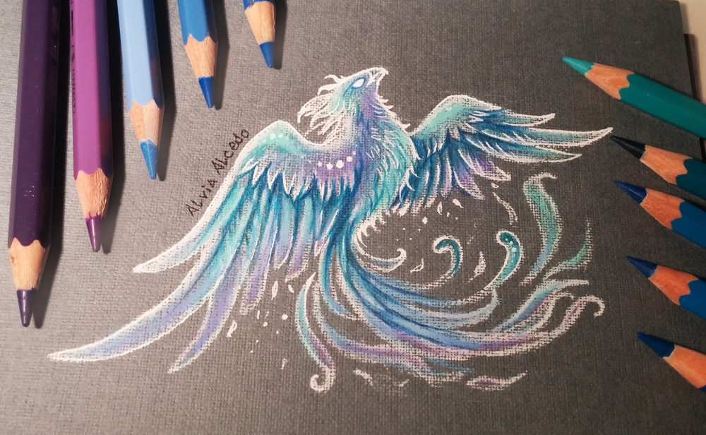 Ice phoenix by alviaalcedo on deviantart for Fire and ice tattoo shop