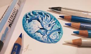 Water dragon's egg by AlviaAlcedo