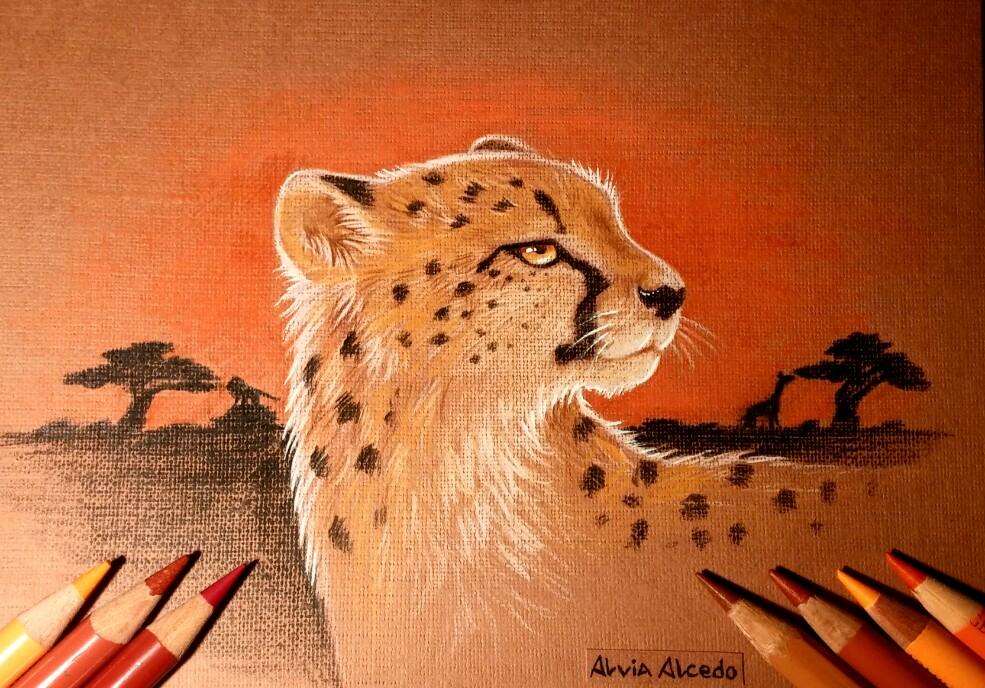 African sunset by AlviaAlcedo