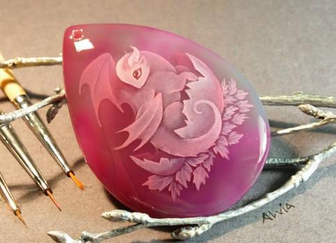 Pink baby dragon