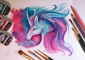 Space unicorn by AlviaAlcedo