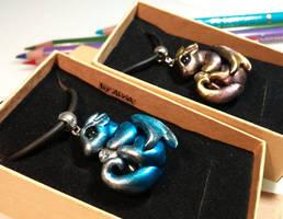 Shiny baby dragons by AlviaAlcedo