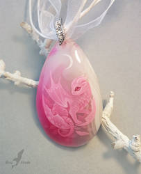 Pink baby dragon by AlviaAlcedo