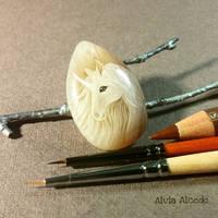 Miniature unicorn by AlviaAlcedo