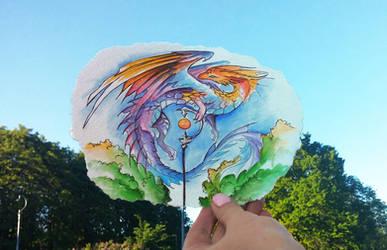 Art vs reality: lantern dragon by AlviaAlcedo