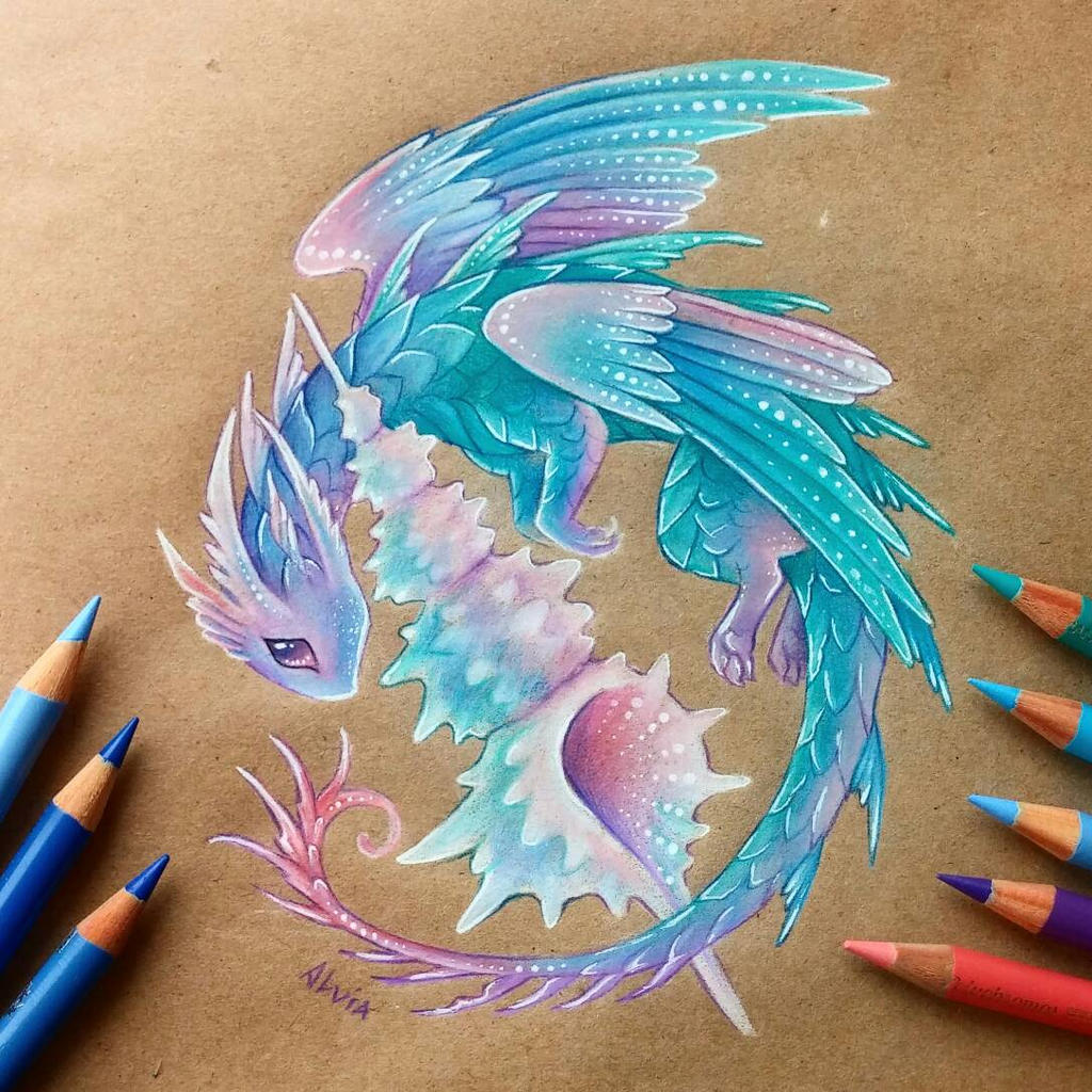 This is a picture of Universal Cute Nature Dragins Drawing
