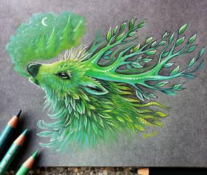 Forest spirit by AlviaAlcedo
